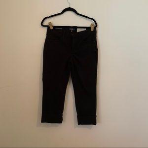NYDJ Dayla Wide Cuff Capri Jeans